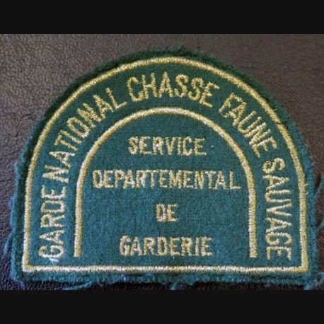 Insigne tissu de garde national chasse faune sauvage