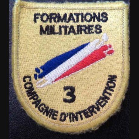 Insigne tissu de la 3° compagnie d'intervention des Formations Militaires