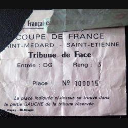 Billet coupe de Foot BallSaint Medard Saint Etienne 1979 - 1980