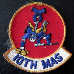 Insigne tissu US 10 th MAS (Military Airlift Squadron)