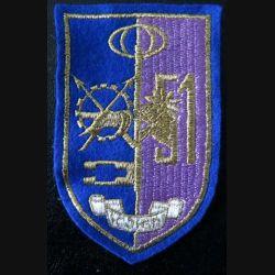 51° BLOG belge : Insigne tissu de la 51° bataillon logistique belge