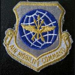 Insigne tissu US  air mobility and command US patch hauteur 8 cm