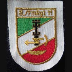 Insigne tissu italien 8./ FmRgt 11transmissions de l'armée de l'air de hauteur 10,5 cm