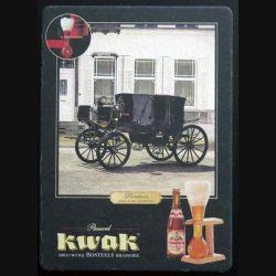 DESSOUS DE VERRE A BIÈRE carte postale Kwak de largeur 10,1 cm (C173)