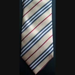 Cravate Burberry dans son coffret avec sa pochette faite main 100% soie (C173)