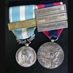 FRANCE : Lot de la médaille d'outre mer et de la Défense de la Légion étrangère avec barrettes