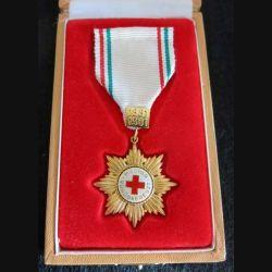 HONGRIE : Médaille Magyar Vöröskereszt de la croix rouge hongroise ruban blanc