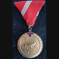 HONGRIE : médaille du prix de l'organisation du don de sang de la Croix-Rouge hongroise