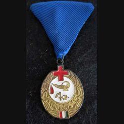 """HONGRIE : médaille quarantième prix """"Excellent donneur de sang"""" pour don de sang"""