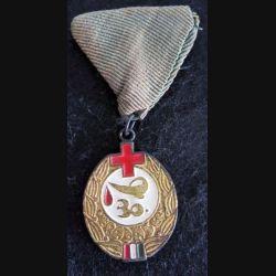 """HONGRIE : médaille trentième prix """"Excellent donneur de sang"""" pour don de sang"""