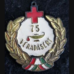 """HONGRIE : médaille 75° prix """"Excellent donneur de sang"""" pour don de sang"""
