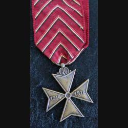 BELGIQUE : médaille de la croix des déportés de la guerre 1914-1918