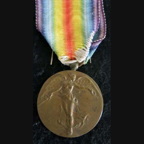 BELGIQUE :  médaille interalliée de La Victoire 1914-1918 en bronze