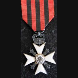 BELGIQUE : Croix belge pour services civiques de 2° classe pour longues carrières dans l'administration en émail (L290)