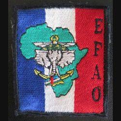 EFAO : Insigne tissu des Eléments Français en Afrique Occidentale avec crochets