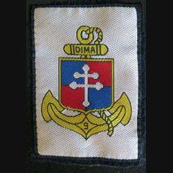 9° DIMA : Insigne tissu de la 9° division d'infanterie de marine 9°DIMA avec crochets