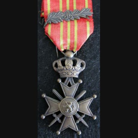 BELGIQUE : croix de guerre 1914-1918 avec 1 palme en bronze