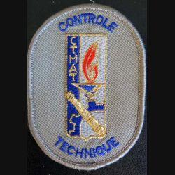 CTMAT : insigne tissu du contrôle technique du matériel de l'armée de terre sur scratch