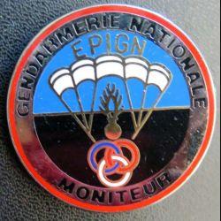 EPIGN : Brevet de moniteur parachutiste Escadron parachutiste intervention Gend Nat EPIGN Boussemart n° 37/A