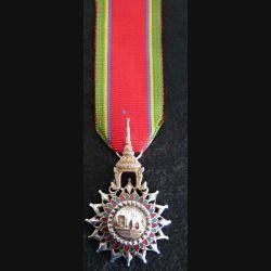 SIAM : médaille de l'ordre de l'éléphant blanc étoile de chevalier de 5° classe