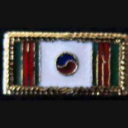 BF COREE : Rappel métallique de médaille du Bataillon De Corée en émail