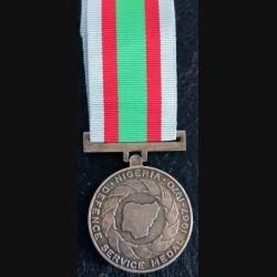NIGERIA  : médaille de la Defence Service Medal 1975 en métal couleur argent