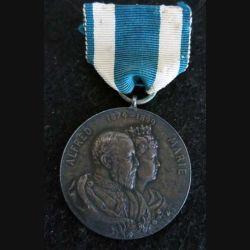 SAXE : médaille Médaille commémorative de l'anniversaire de mariage du duc Alfred et de la grande duchesse Marie (Coburg-Gotha)