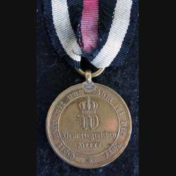 PRUSSE : médaille pour les combattants Kriegsdenkmünze für die Feldzüge 1870-71 bronze