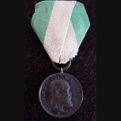 WURTEMBERG : médaille Wilhelm II Koenig von Wurtemberg métal argenté