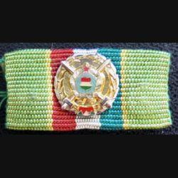HONGRIE : barrette de la médaille du service militaire 2° année