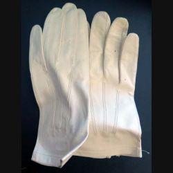 Paire de Gants en cuir blanc de tenue de sortie officier taille 8 1/2 de Chez Rousseau Niort