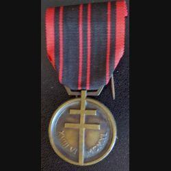 FRANCE : Médaille de la résistance en bronze mat sans poinçon