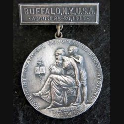 USA  : médaille Fourth international congress on school hygiene Buffalo N.Y