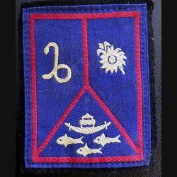 insigne tissu Antilles Guyane avec 4 crochets