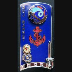 PROMOTION ENSOA : insigne de promotion Adj Barret de fabrication GLF G. 5433 numéroté 309
