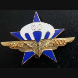 1° RCP : 60° anniversaire du 1° régiment de chasseurs parachutistes 1943 - 2003 Boussemart n° 1335