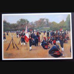Carte de voeux du drapeau du 1° RTS régiment de tirailleur sénégalais