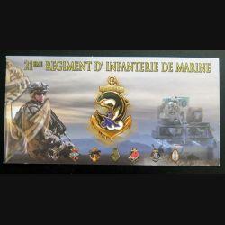 Carte de voeux du 21° Régiment d'Infanterie de marine RIMA