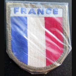 FRANCE : insigne tissu France sous plastique de protection