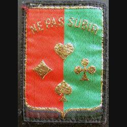 14° DI : insigne tissu de la 14° division d'infanterie Ne pas subir de dimension 6 x 8 cm