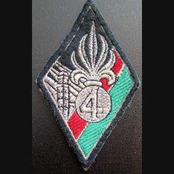 4° REI : insigne tissu du 4° régiment étranger d'infanterie hauteur 11,2 cm