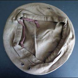 béret tchécoslovaque taille 58 marron kaki (C163)
