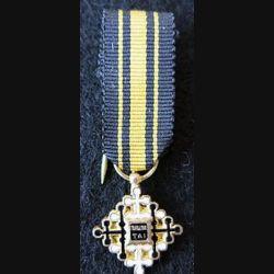 THAÏLANDE : Médaille miniature de chevalier de l'Ordre du Mérite Civil Taï en argent