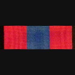 FRANCE : ruban de la médaille de la défense nationale échelon bronze de longueur 14 cm
