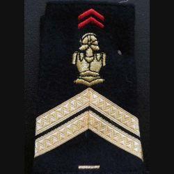 Fourreau de sergent du génie 1 barre d'ancienneté (vendu par paire) (C178)