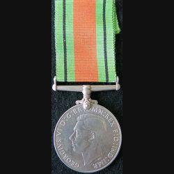 GRANDE BRETAGNE : médaille de la Defence Medal 1939-1945 en métal argenté