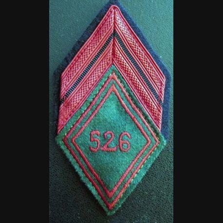 526° RT : Galon de caporal du 526° régiment du train avec crochets de fixation