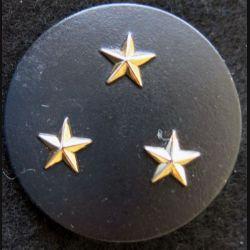 INSIGNE DE BÉRET : Insigne de béret Général de division 3 étoiles dorées