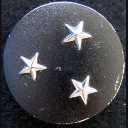 INSIGNE DE BÉRET : Insigne de béret Général de division 3 étoiles argentées
