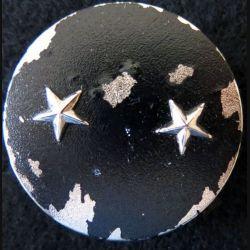 INSIGNE DE BÉRET : Insigne de béret  Général de brigade 2 étoiles argentées